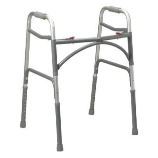 Bariatric Folding Walker Adjustable Height McKesson Steel Frame 500 lbs. Weight Capacity 32-1/2 to 39 Inch Height