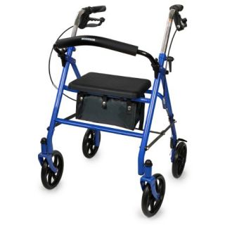 4 Wheel Rollator McKesson Folding Steel Frame 300lb Capacity