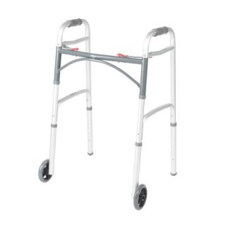 Folding Walker-Adjustable Height-Mckesson-Aluminum Frame 350lbs Weight Cap.
