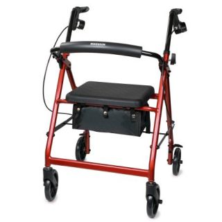 4 Wheel Folding Rollator by McKesson Aluminum Frame 300lb Capacity