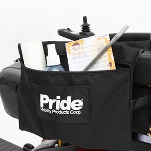 Shop Pride Armrest Saddlebag Large for mobility scooters and power chairs | HomeTown Mobility