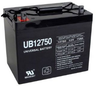 Shop UB12750 or comparable 12Volt 75AH Group 24 Sealed Battery for mobility scooters, power chairs