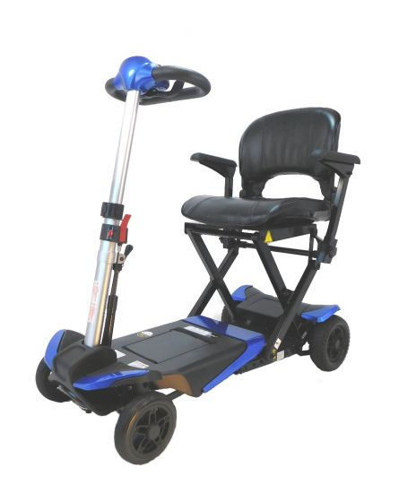 Solax Transformer Auto Folding 4 Wheel Mobility Scooter with Remote