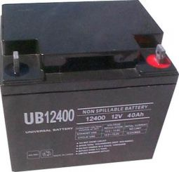 Shop UB12400 or comparable 12Volt 40AH Sealed Battery for Mobility Scooters | HomeTown Mobility