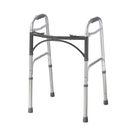 Junior Folding Walker by McKesson Aluminum Frame 350lb Capacity