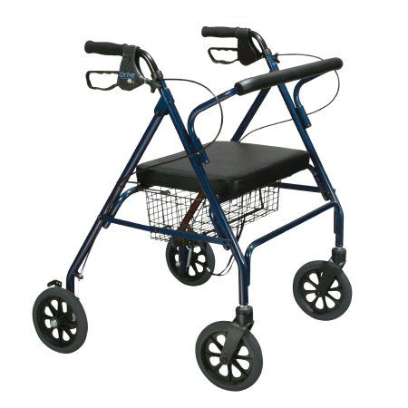 Bariatric 4 Wheel Rollator Walker by Drive™ 500lb Capacity and 8 inch wheels
