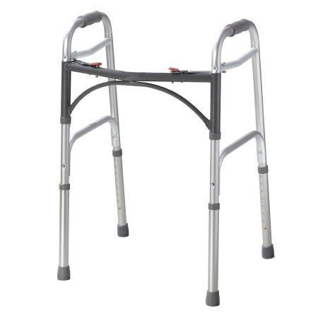 Folding Walker Adjustable Height by Drive™ Deluxe Frame 350 lb Weight Cap and 32 to 39 Inch Height