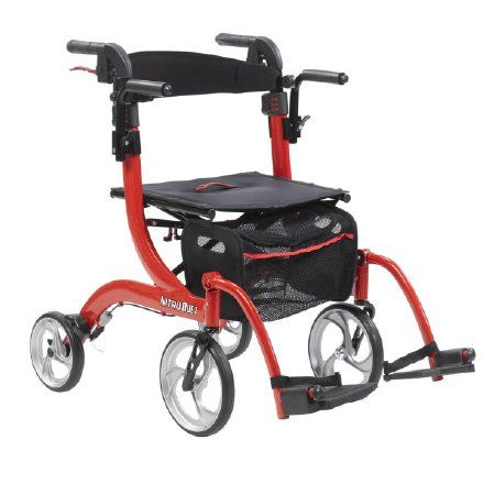 Nitro Duet 4wheel Rollator / Transport Chair All-in-One by Drive™