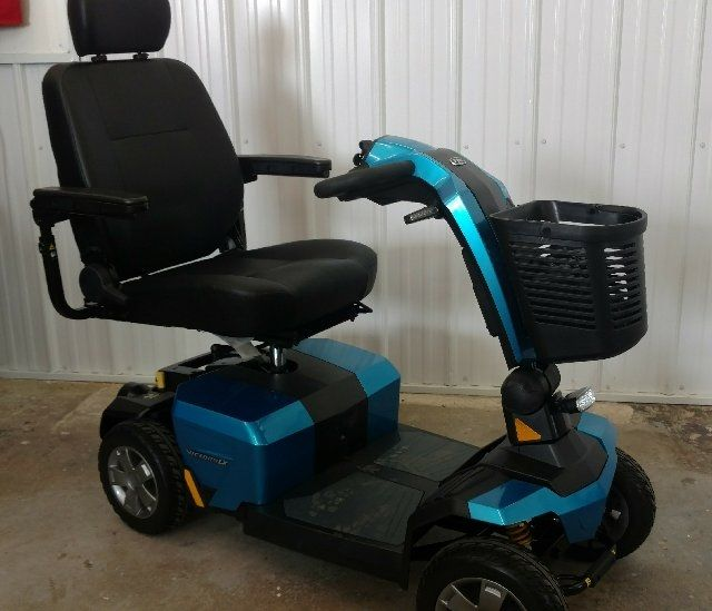 Online Shop for Used 2018 Pride Victory 10 LX 4wheel Scooter (Blue) | HomeTown Mobility