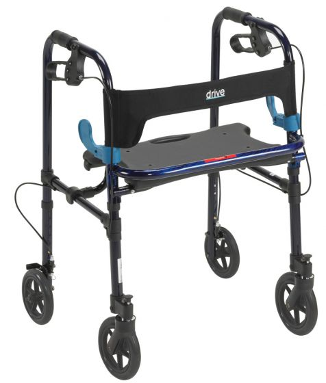 Drive Medical Clever Lite Walker with 8 inch Casters 300lb Capacity