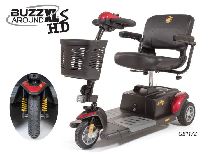 Online Shop for Buzzaround XLS HD 3 Wheel Mobility Scooter - Model GB117Z | HomeTown Mobility