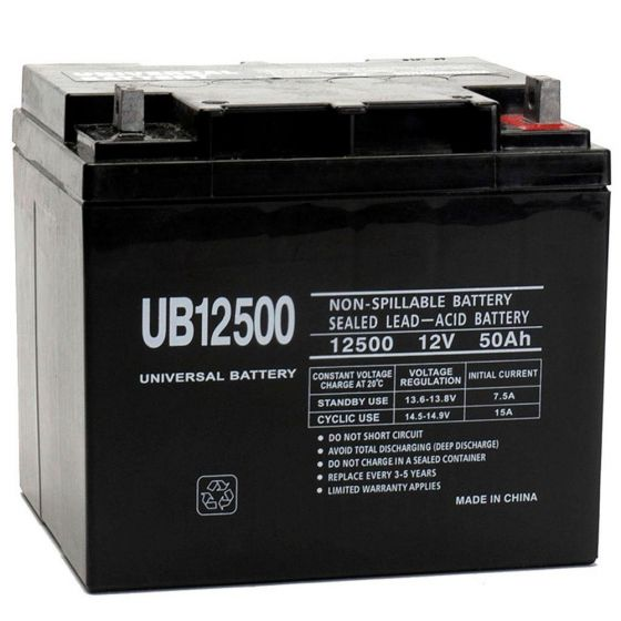 Shop UB12500 12Volt 50AH Sealed Battery for Mobility Scooters | HomeTown Mobility