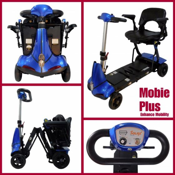Solax Mobie Plus 4 Wheel Folding Travel Mobility Scooter