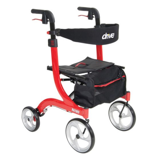 Nitro 4 Wheel Rollator Walker by Drive™ Small to Tall Sizes