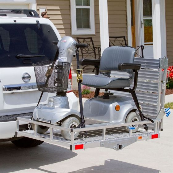 Online Shop for Silver Springs Deluxe Aluminum Folding Scooter and Wheelchair Carrier | HomeTown Mobility