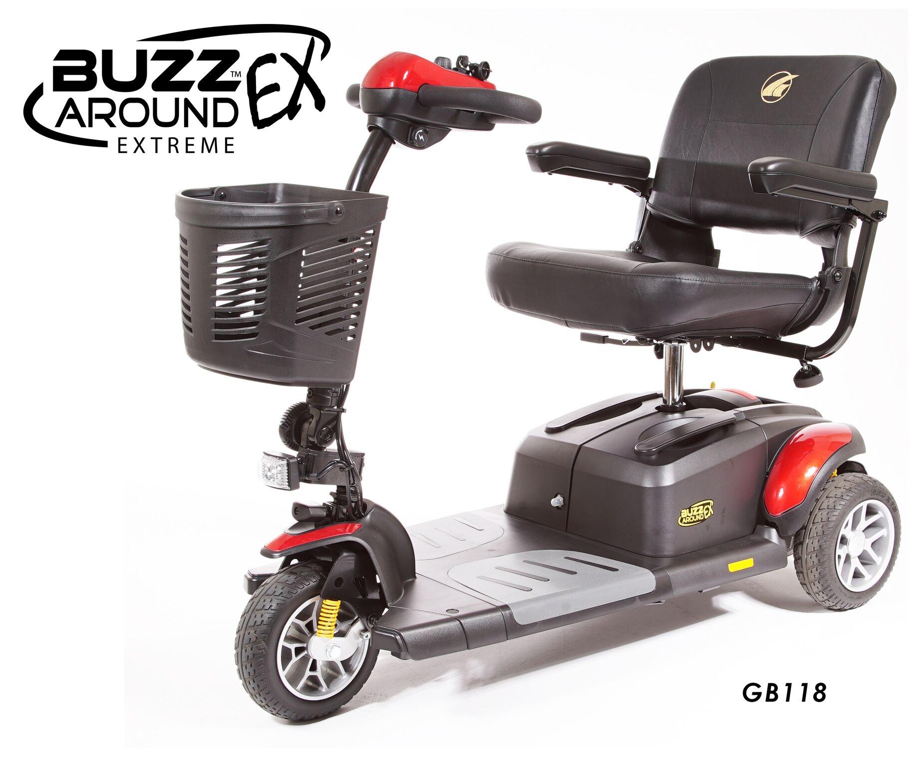 Golden Buzzaround EX 3 Wheel Mobility Scooter - Model GB118D | Golden  Scooter | HTMIA