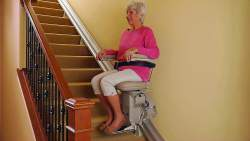 lady on stairlift